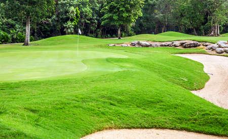 mayan riviera: Beautiful golf course on mayan riviera in Mexico
