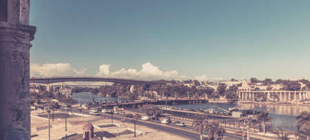 Panorama of Santo Domingo, Dominican Republic. A view from Christopher Columbus lighthouse.