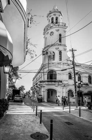 santo domingo: SANTO DOMINGO, DOMINICAN REPUBLIC - NOVEMBER 20, 2014: Old general quarters in Santo Domingo, Dominican Republic Editorial