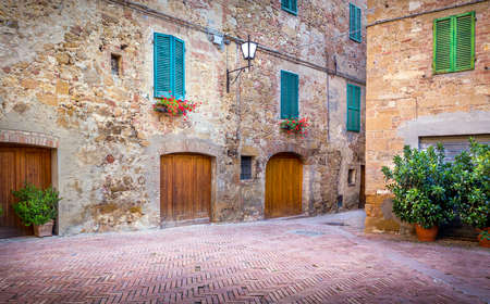 Captivating architecture of tuscan Pienza city, Italy
