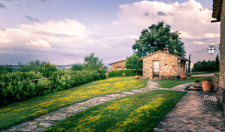 pienza: Tuscan countryside scenery in Pienza town vicinity Stock Photo