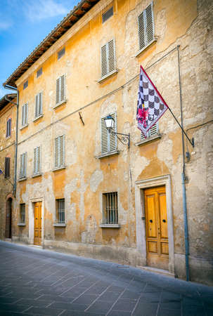 san quirico: Beautiful street of San Quirico Dorcia in Tuscany, Italy