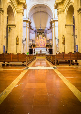 Interior of cathedral at Piazza Grande in Montepulciano, Tuscany