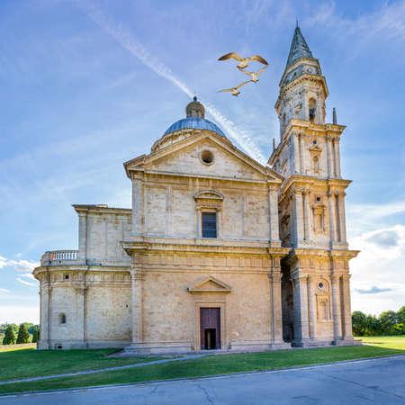 montepulciano: Exterior of Madonna di San Biagio church in Montepulciano, Italy