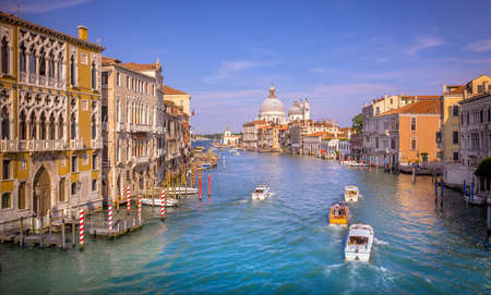 saint: Grand Canal with view on Saint Mary of Health cathedral in Venice, Italy
