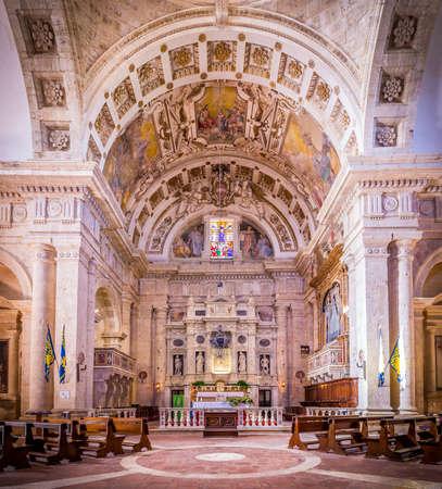 Interior of Madonna di San Biagio church in Montepulciano, Italy Editorial