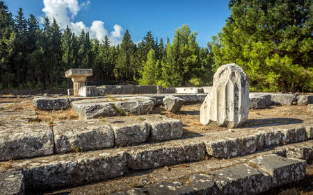hippocrates: Ancient site of Asclepeion at greek Kos island
