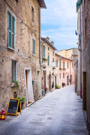 montepulciano: Beautiful street of captivating Montepulciano town in Tuscany, Italy