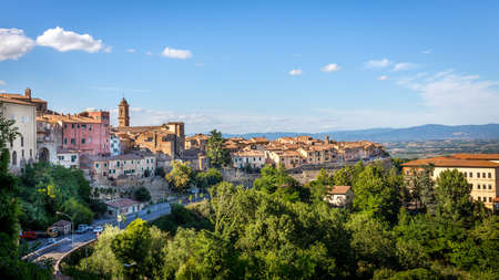 montepulciano: Cityscape of historic Montepulciano town in Tuscany, Italy