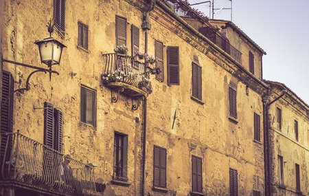 montepulciano: Old buildings of captivating Montepulciano town in Tuscany, Italy Stock Photo
