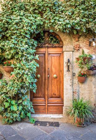 captivating: Captivating scenery of old Montisi village in Tuscany Stock Photo