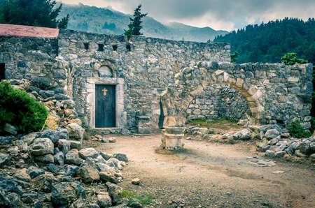 Palos Pili 유적 Kos 섬, 그리스 스톡 콘텐츠