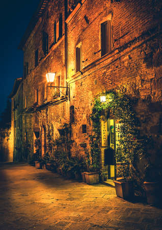pienza: Small cosy restaurant in old Pienza town, Tuscany
