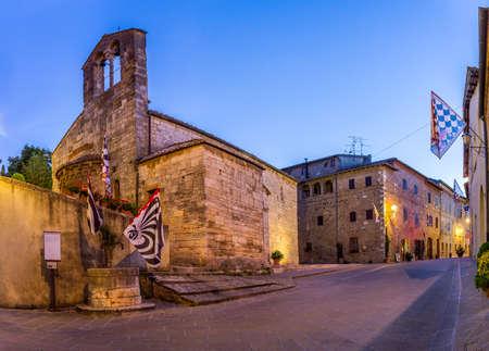 san quirico: Beautiful church in San Quirico Dorcia tuscan town
