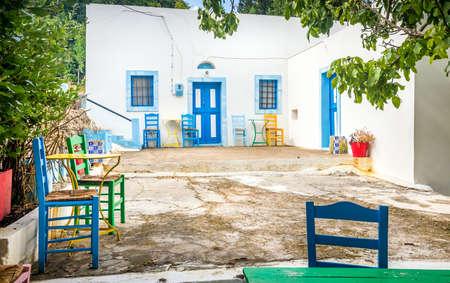 kos: Captivating Zia village at greek Kos island Stock Photo