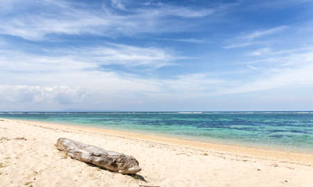 Geger beach scenery on Bali island in Indonesia
