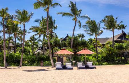 Paradise Geger beach on Bali island in Indonesia Stock Photo