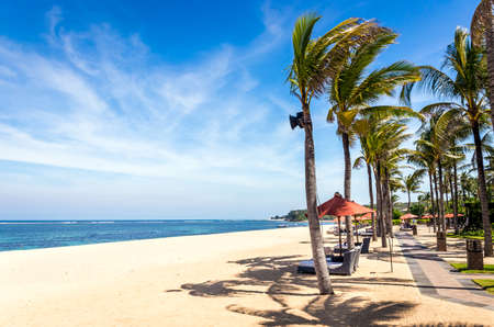 Paradise Geger beach on Bali island in Indonesia Stockfoto