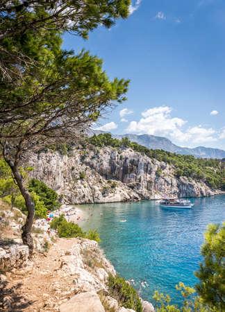 Marvelous Nugal beach near Makarska village, beautiful Mediterranean seascape Stock Photo