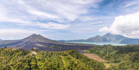 Beautiful landscape of mount Batur volcano in Bali, Indonesia