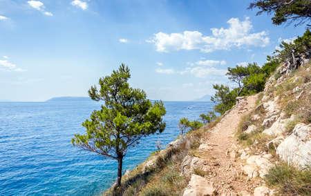 Mediterranean sea seascape near Makarska village in Croatia