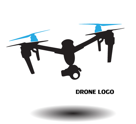 Drone logo Archivio Fotografico - 52590607