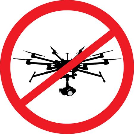 Drone prohibited logo Vectores