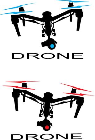 Logotipo de aviones no tripulados Foto de archivo - 52590604