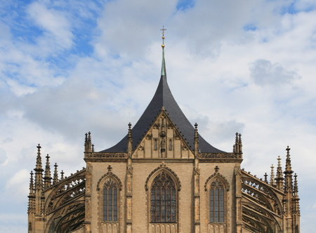 Details gothic architecture of cathedral st. Barbara from Kutn� Hora - Czech photo