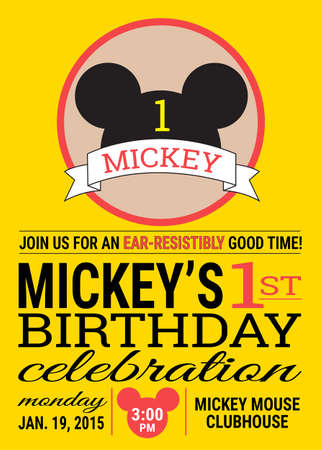 invito compleanno: Micky Mouse invito compleanno