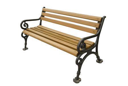 Park Bench auf weißer Hintergrund isoliert Standard-Bild - 7014499
