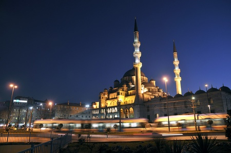 eminonu: Eminonu Night View (New Mosque), Istanbul, Turkey