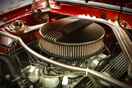 Muscle Car Engine Standard-Bild - 9675566