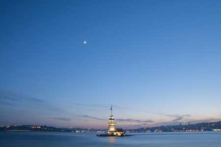 The Maiden's Tower (Kiz Kulesi) In Istanbul, Turkey