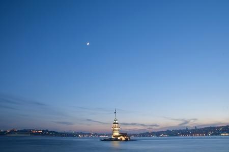 The Maiden's Tower (Kiz Kulesi) In Istanbul, Turkey Banco de Imagens - 9675568