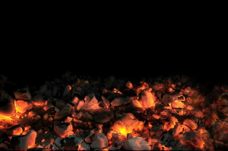 ember: Live Coal With Black Background