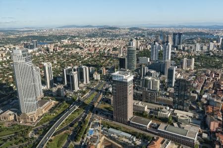 Wolkenkratzer in Levent, Istanbul - Türkei (Horizontal) Standard-Bild - 10385494
