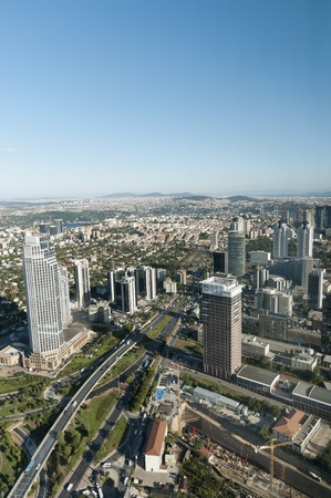 Skyscrapers In Levent, Istanbul - Turkey (vertical)