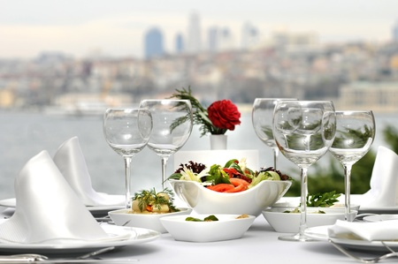 Dinner At The Bosphorus, Istanbul - Turkey (Day Shot)