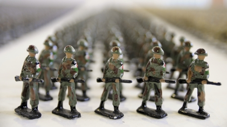 Lead Soldiers Stock Photo