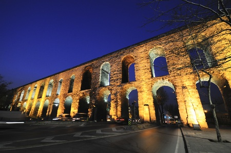 constantinople ancient: Valens Aqueduct (Bozdogan Kemeri) In Istanbul, Turkey