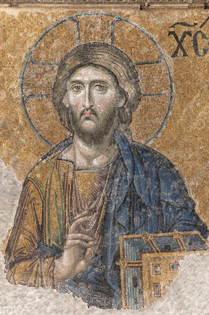 Mosaic Of Jesus Christ Inside Hagia Sophia, Istanbul, Turkey