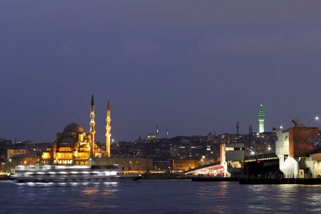 Eminonu At Night, Istanbul, Turkey photo