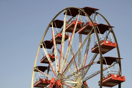 amusment: Ferriswheel With Blue Sky on Background