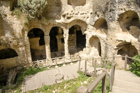 Cave Tombs in Seleukeia Pieria, Antakya, Turkey