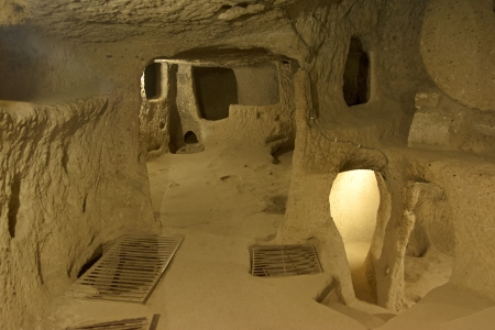 Kaymakli Underground City, Nevsehir, Türkei Standard-Bild - 23005672