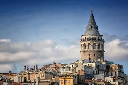 Galata Tower, Istanbul, Turkey Banco de Imagens