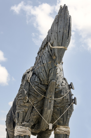 trojan horse: Cavallo di Troia, Canakkale, Turchia