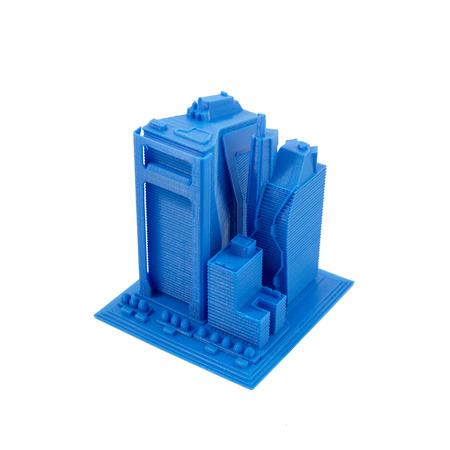 impresion: 3D Impreso Modelo De Rascacielos Foto de archivo
