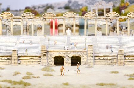 Diorama der Gladiatoren Standard-Bild - 37369216